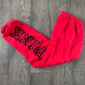 Victoria's Secret Pink red classic pant